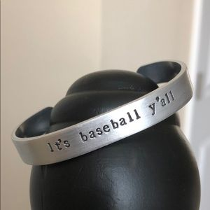 """Jewelry - Hand Stamped Cuff - """"It's Baseball Y'all"""" ⚾️"""